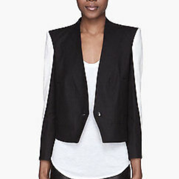 Helmut Lang Jackets & Blazers - Helmut Lang black and white blazer jacket